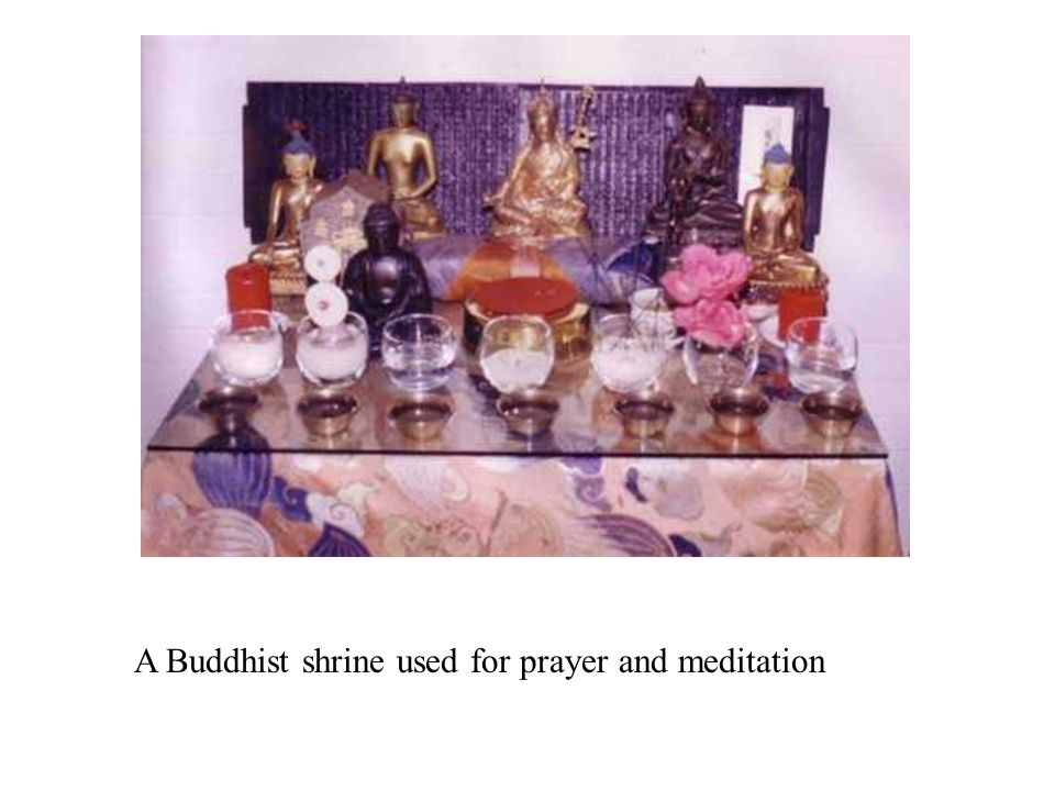 A Buddhist shrine used for prayer and meditation
