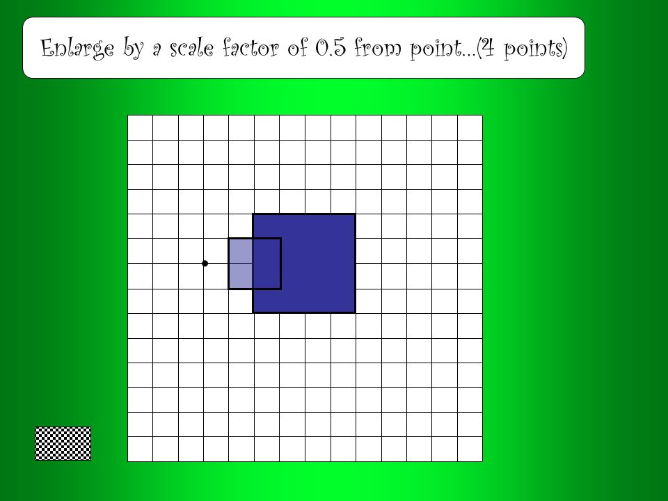 Enlarge by a scale factor of 3 from point…(3 points)