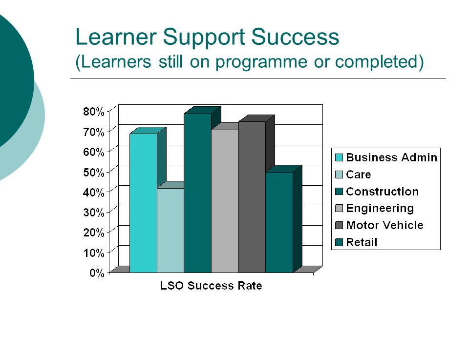 Learner Support Success (Learners still on programme or completed)