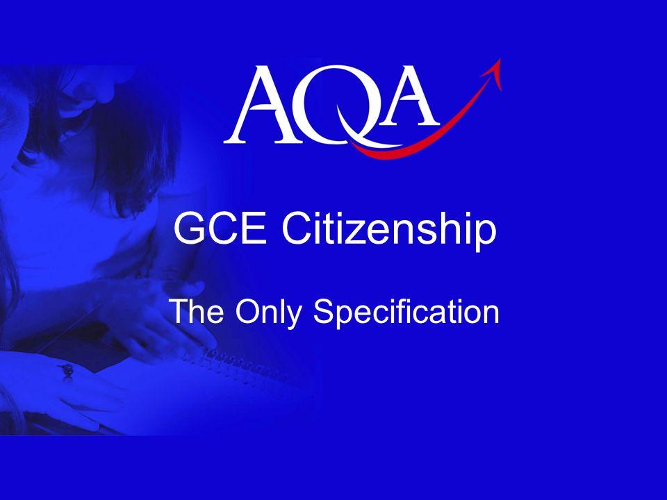 12 Qualifications across the Key Stages Level1/2 AQA Unit Award Scheme Level 2 GCSE Short Course Level 2 GCSE Full Course (September 2009) Level 3 GCE AS Social Science: Citizenship Level 3 GCE AS (September 2008) Level 3 GCE A2 (September 2008) Level 3 Extended Project AQA Bacc Specialised Diploma 14-19