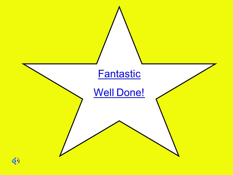 Fantastic Well Done!