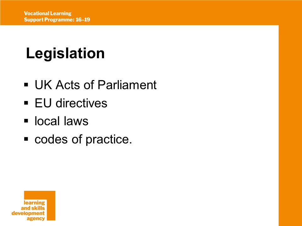 UK Acts of Parliament Environmental Protection Act Clean Air Act Health and Safety at Work Act other relevant acts.