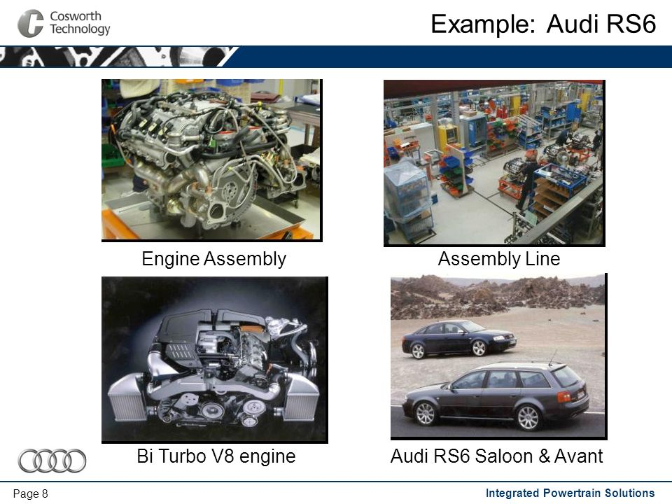 Integrated Powertrain Solutions Page 9 Example: VW Group 1.8L Cylinder Head 1.8L 20V cylinder head for Turbo and NA applications Cast and pre-machined at CT Castings Installed in - VW Golf GTi- Audi A4 - Audi S3- Audi TT - Seat Leon