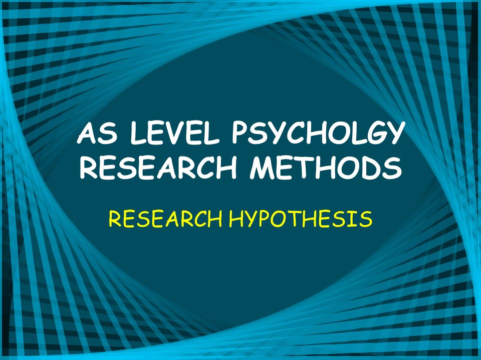 THE NULL HYPOTHESIS THERE WILL BE NO DIFFERENCE IN STRESS LEVELS (G.S.R) BETWEEN PARTICIPANTS UNDERTAKING A VIGILANCE TASK IN THE NOISE CONDITION AND THOSE IN THE NO NOISE CONDITION.