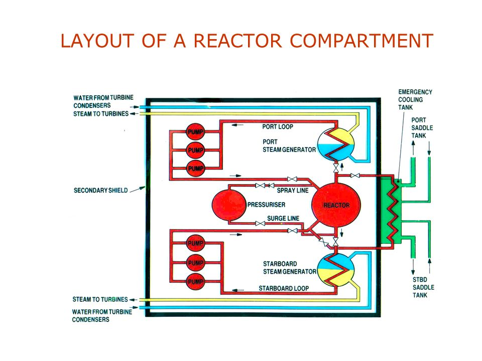 REACTOR,SHOWING STEAM GENERATOR