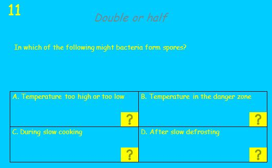A. Incorrect cooking and cooling of meat and poultry B.