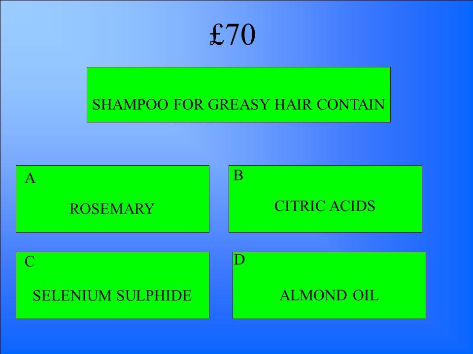 SHAMPOO FOR GREASY HAIR CONTAIN ROSEMARY CITRIC ACIDS ALMOND OILSELENIUM SULPHIDE A B D C £70