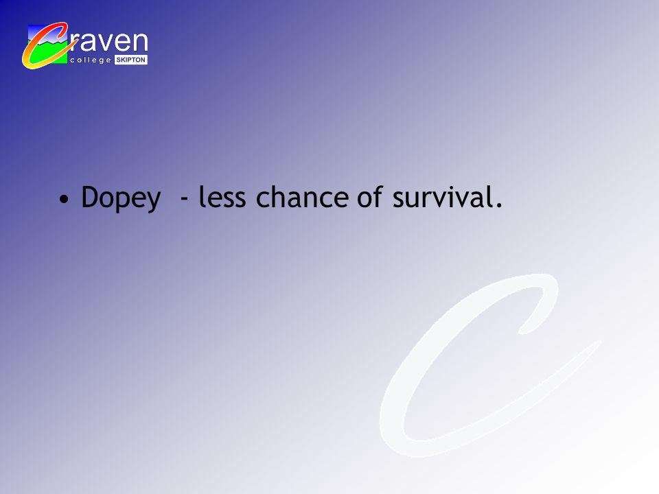 Dopey - less chance of survival.