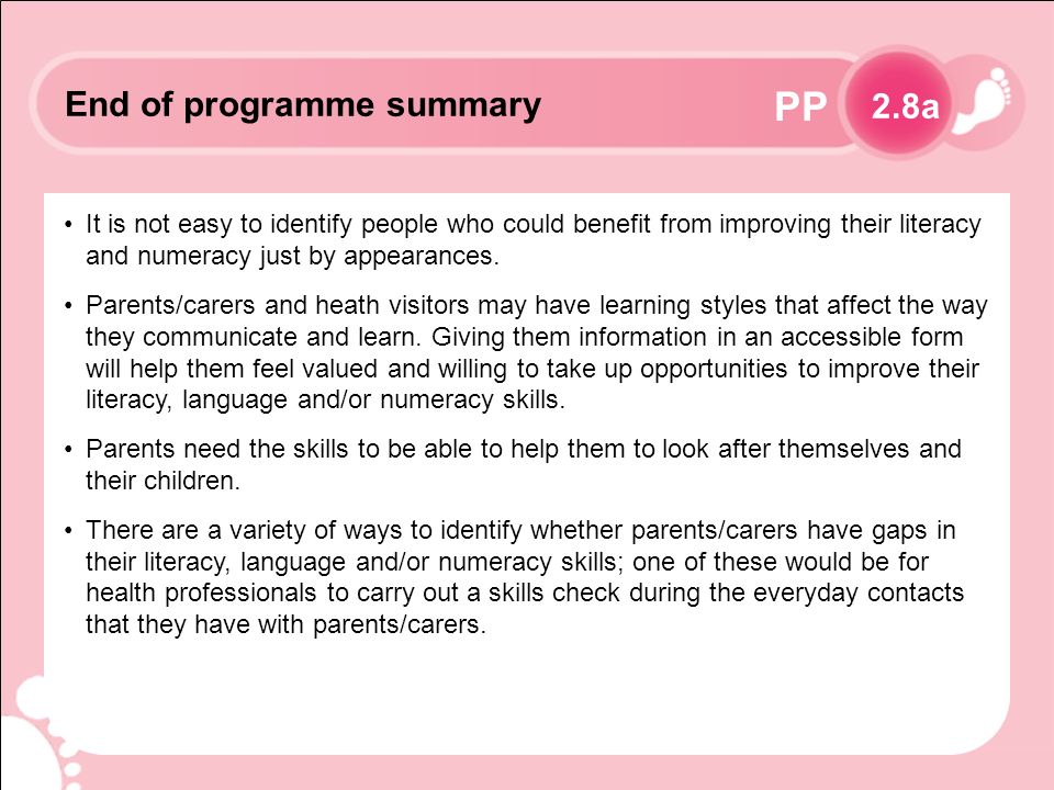 PP It is not easy to identify people who could benefit from improving their literacy and numeracy just by appearances.
