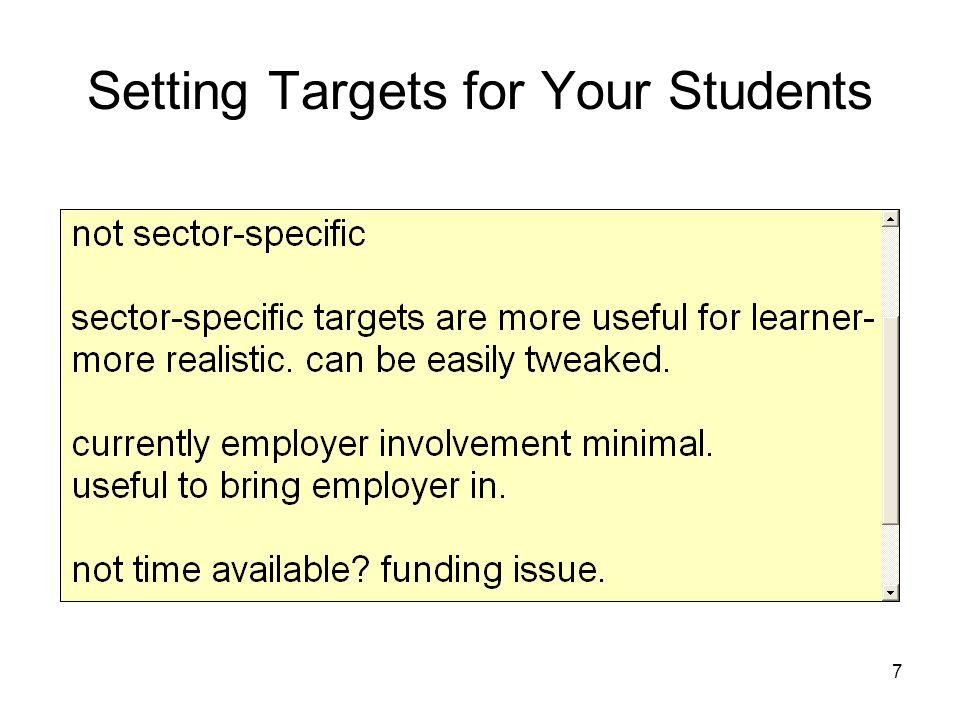 7 Setting Targets for Your Students