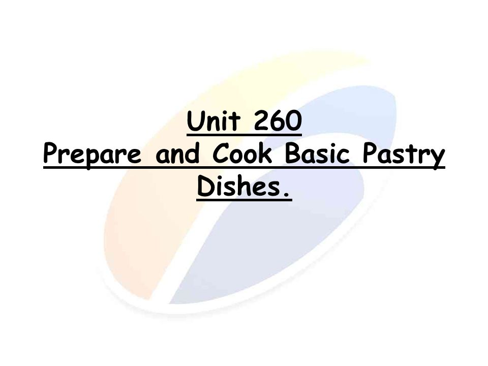 Cooking basic pastry.Cooking methods. Baking.
