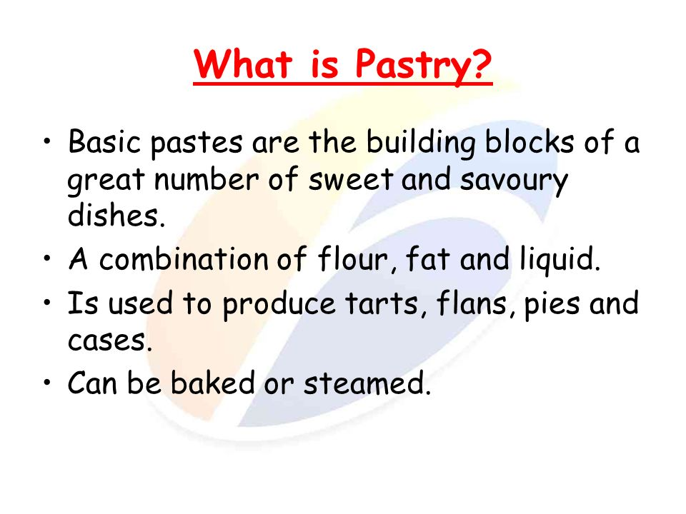 Quality points of a cooked pastry product.Appearance.