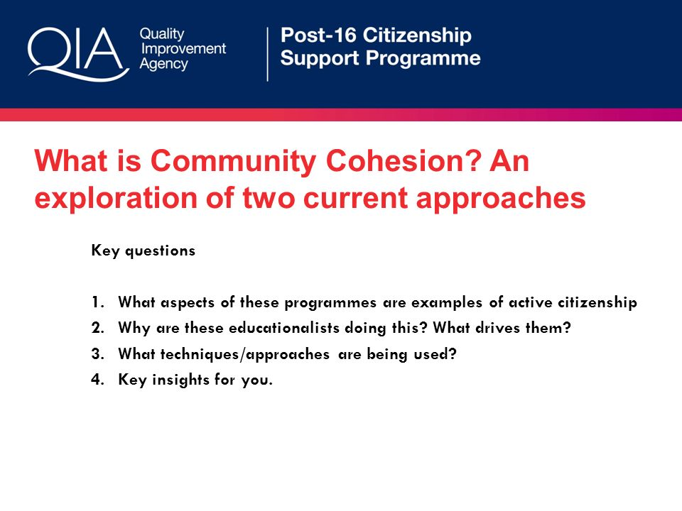 What is Community Cohesion.