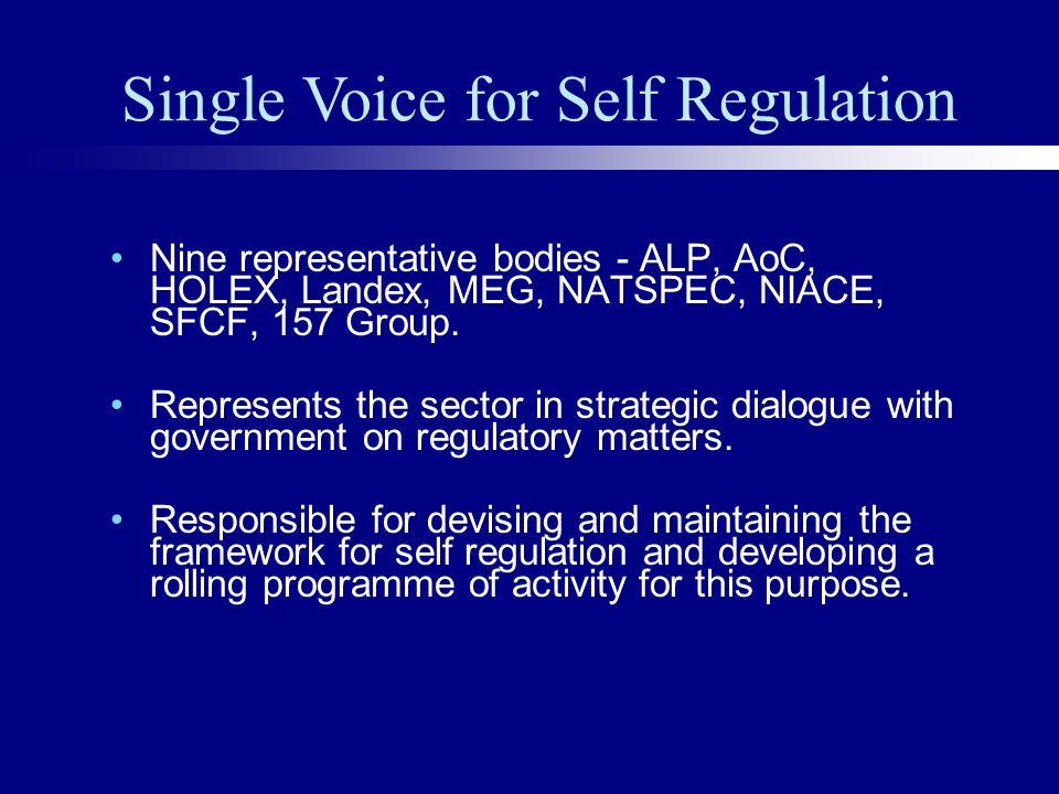 Nine representative bodies - ALP, AoC, HOLEX, Landex, MEG, NATSPEC, NIACE, SFCF, 157 Group.