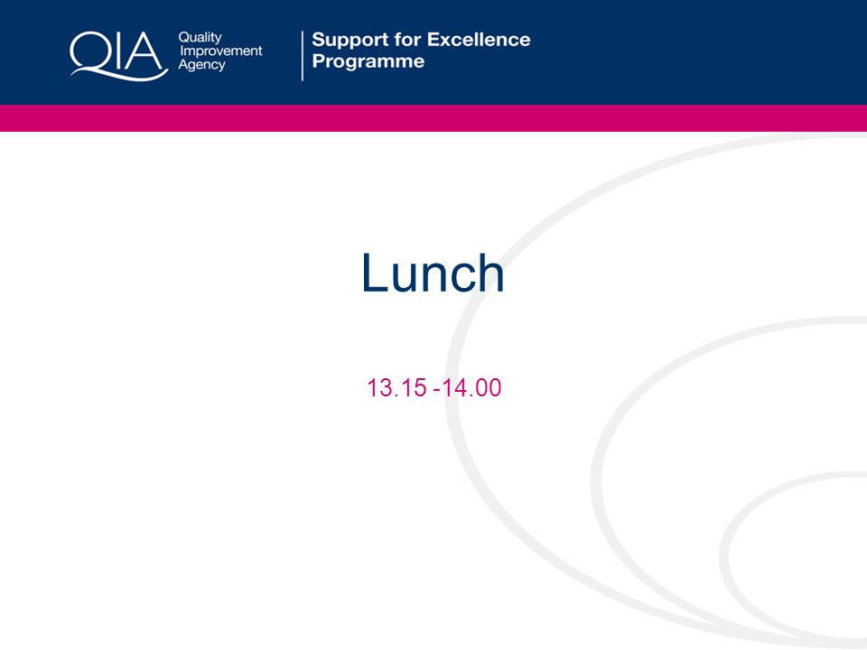 Lunch 13.15 -14.00