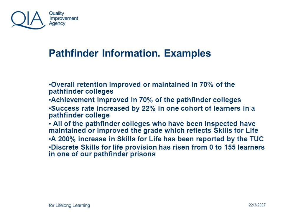 22/3/2007 Pathfinder Information.