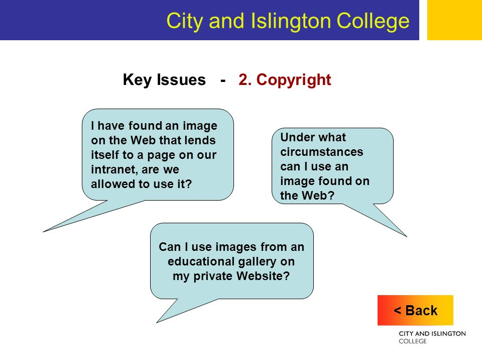 City and Islington College Key Issues - 2.