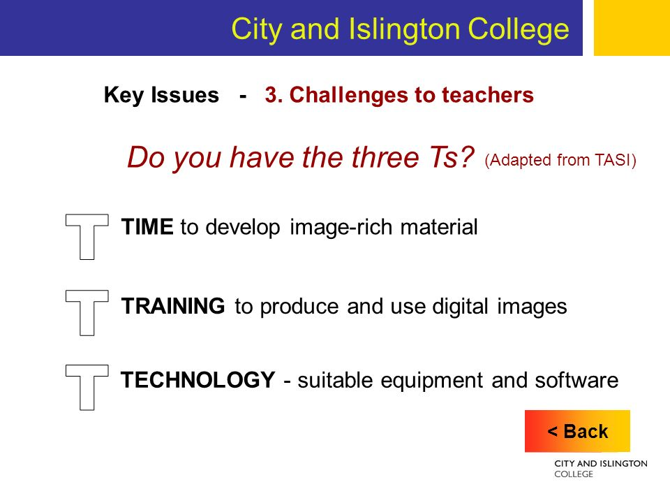City and Islington College Key Issues - 3.