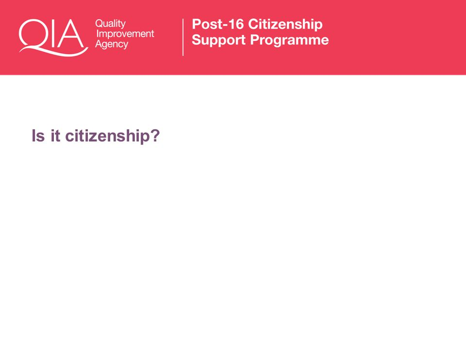 Is it citizenship?