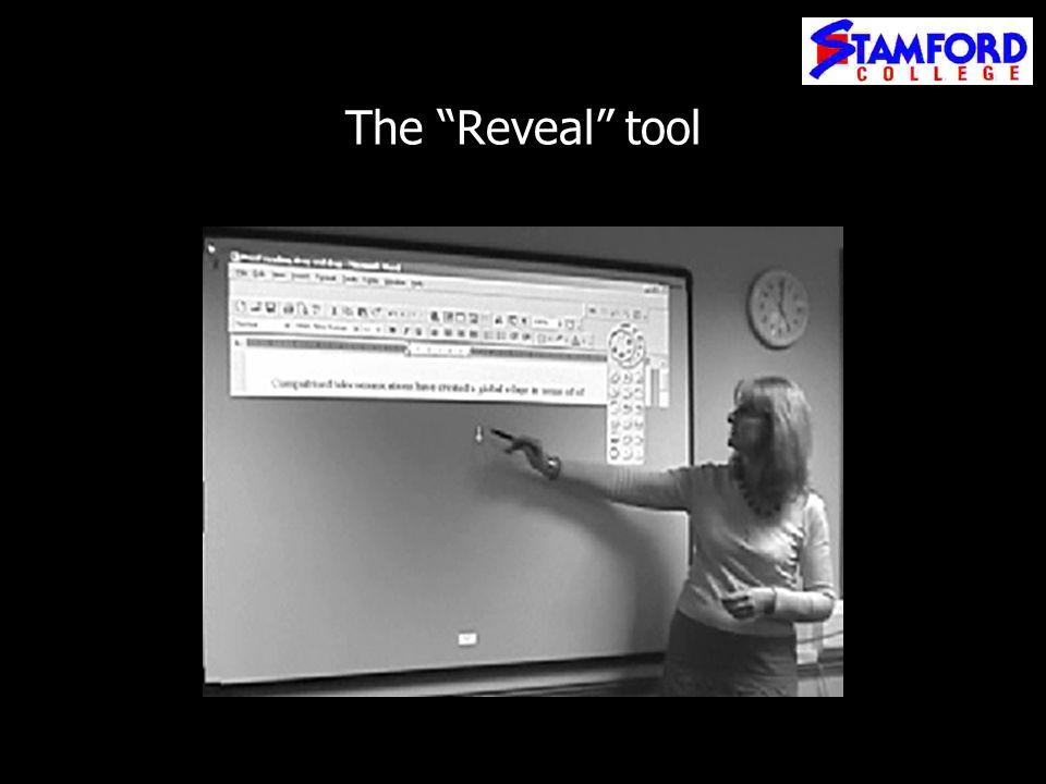 The Reveal tool