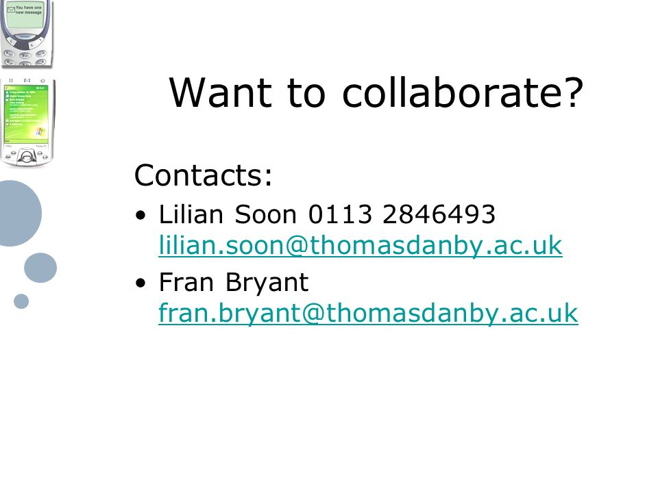 Want to collaborate.