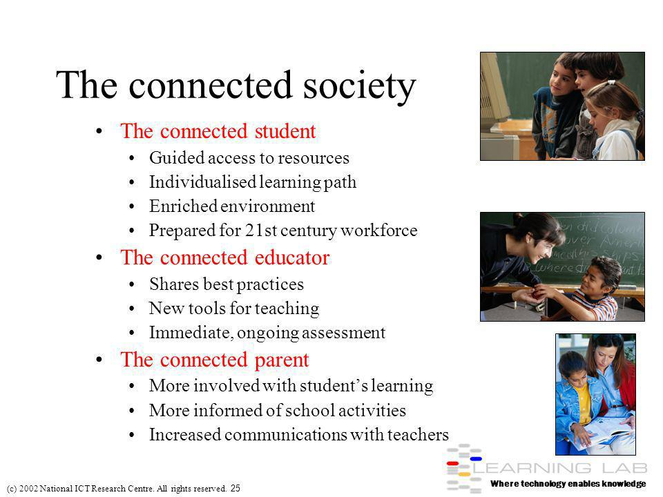 Where technology enables knowledge (c) 2002 National ICT Research Centre.
