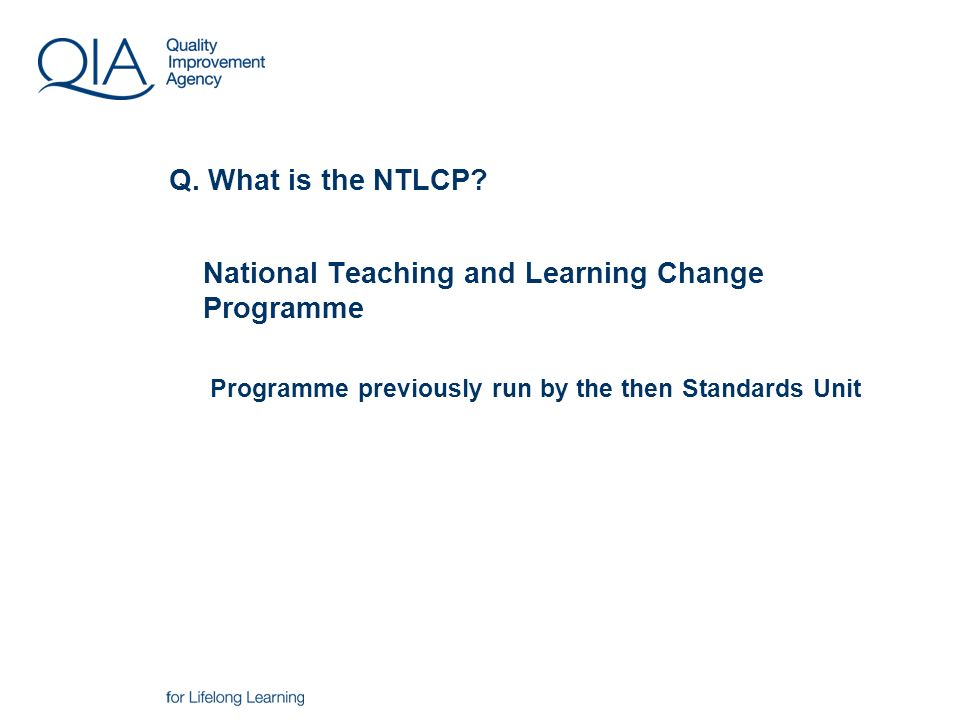 Q. What is the NTLCP.
