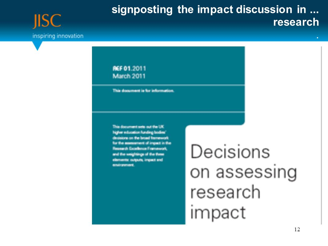 signposting the impact discussion in... research. 12