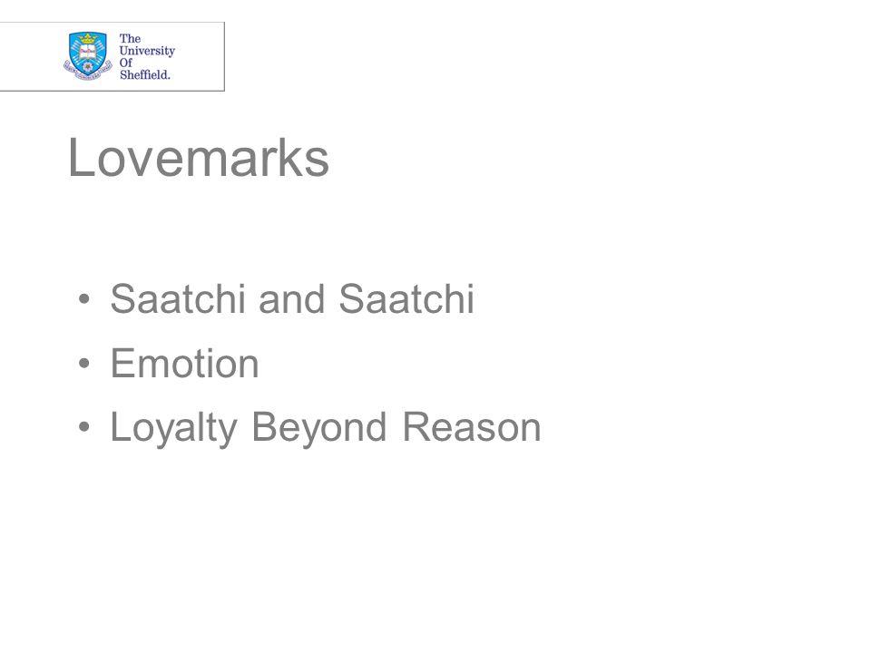 Lovemarks Saatchi and Saatchi Emotion Loyalty Beyond Reason