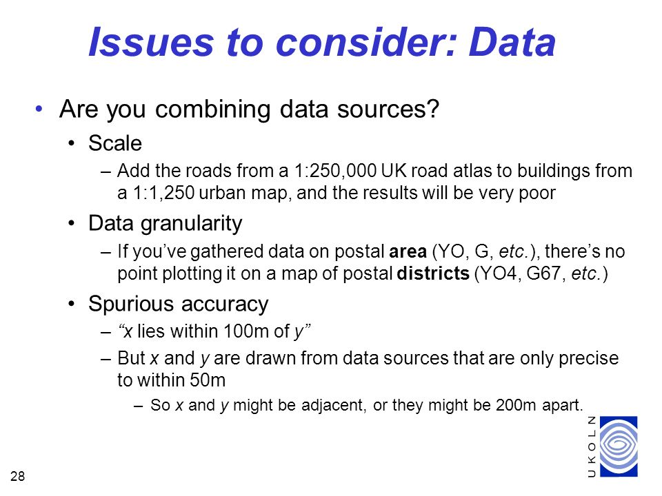 28 Are you combining data sources.