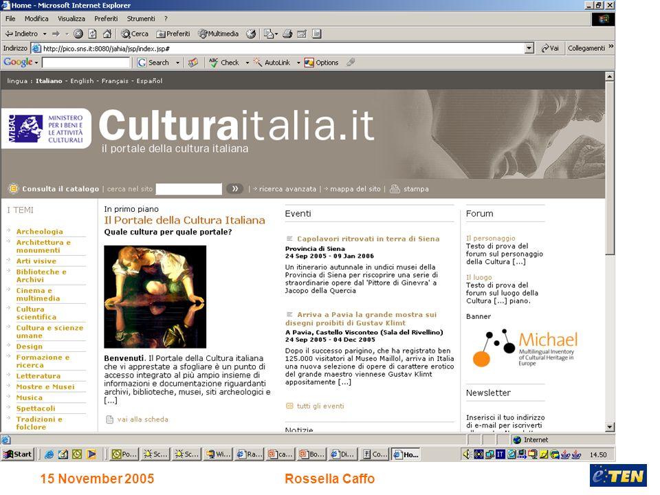 15 November 2005Rossella Caffo