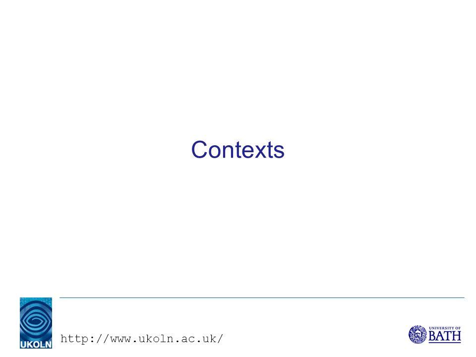 http://www.ukoln.ac.uk/ Contexts