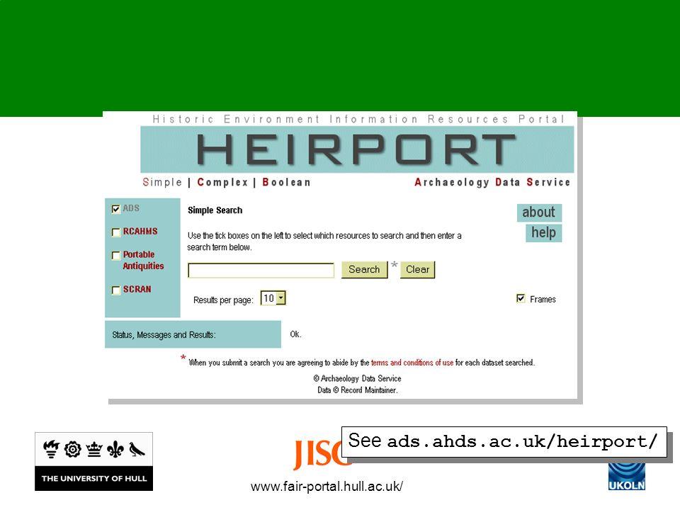 www.fair-portal.hull.ac.uk/ See ads.ahds.ac.uk/heirport/