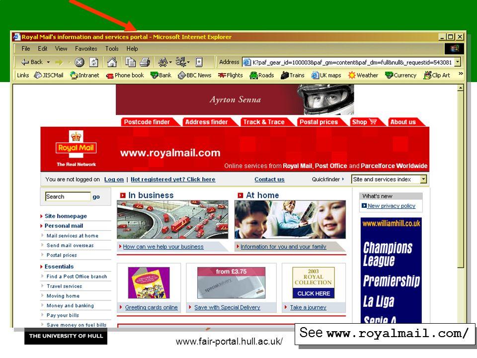 www.fair-portal.hull.ac.uk/ See www.royalmail.com/