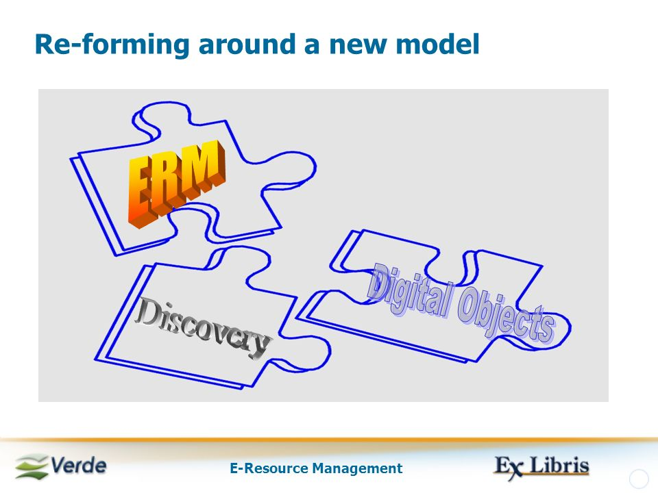 E-Resource Management Re-forming around a new model