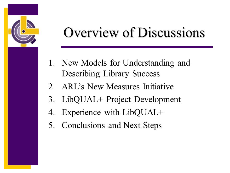 Project Resources LibQUAL+ TM is an ARL/Texas A&M University joint effort.