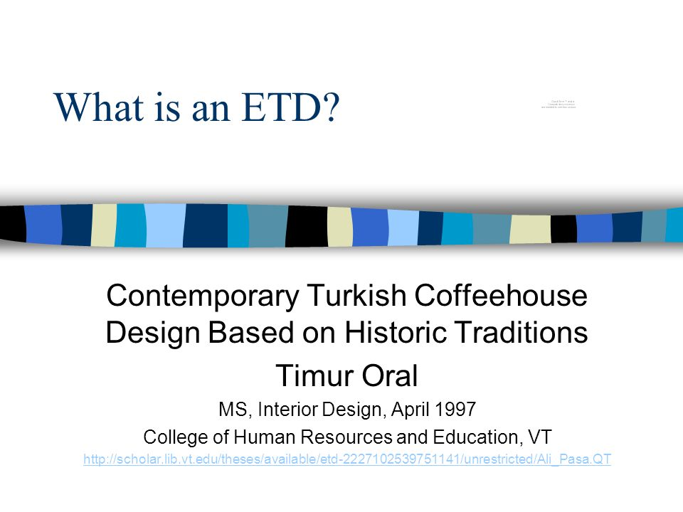 What is an ETD.