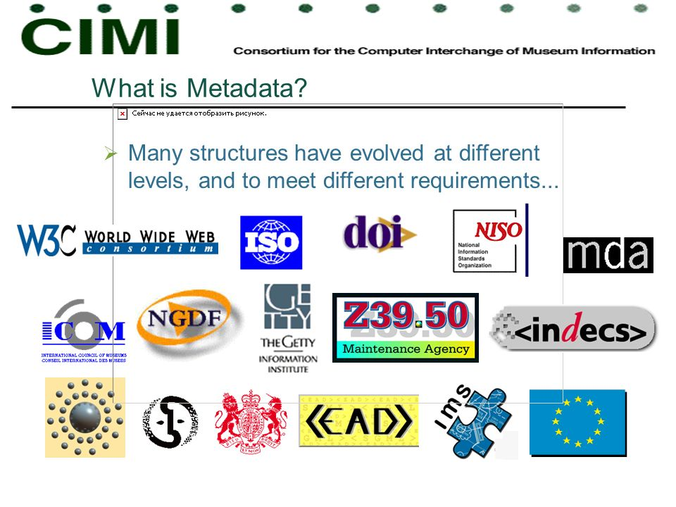 What is Metadata? Many structures have evolved at different levels, and to meet different requirements...
