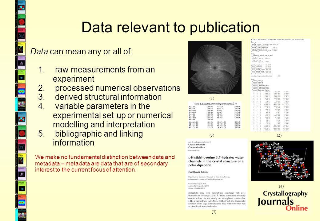 Why publish data.