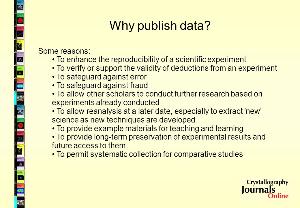Why publish data.