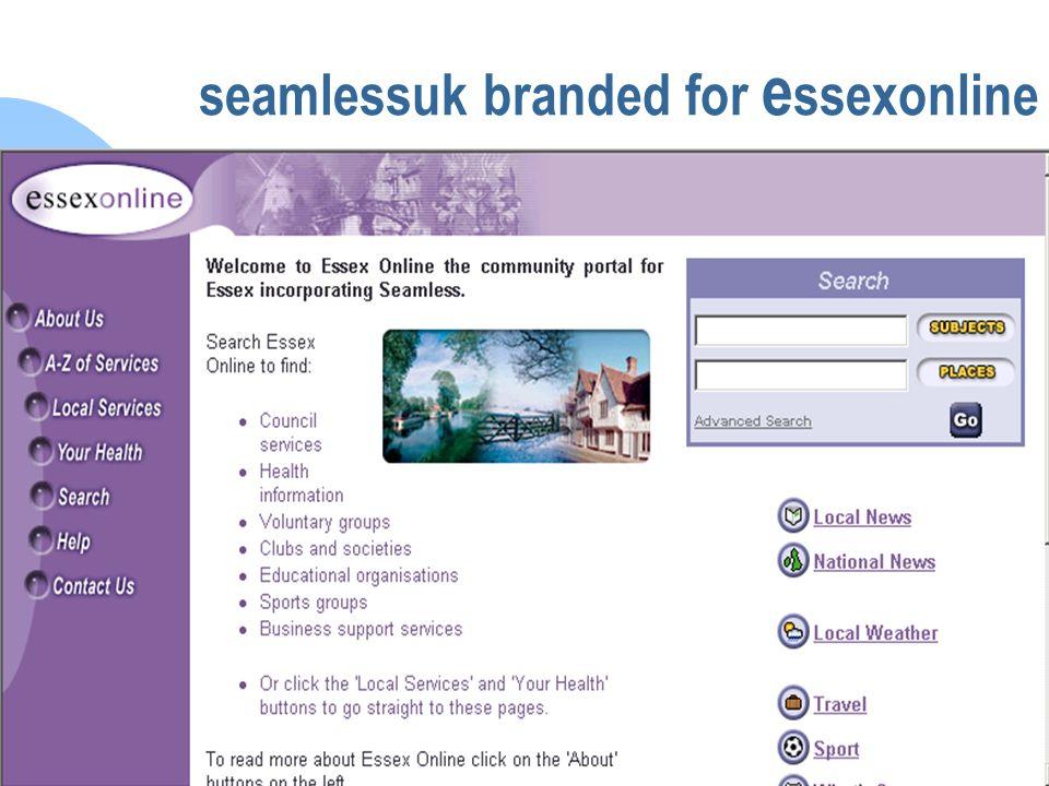 seamlessUK seamlessuk branded for e ssexonline