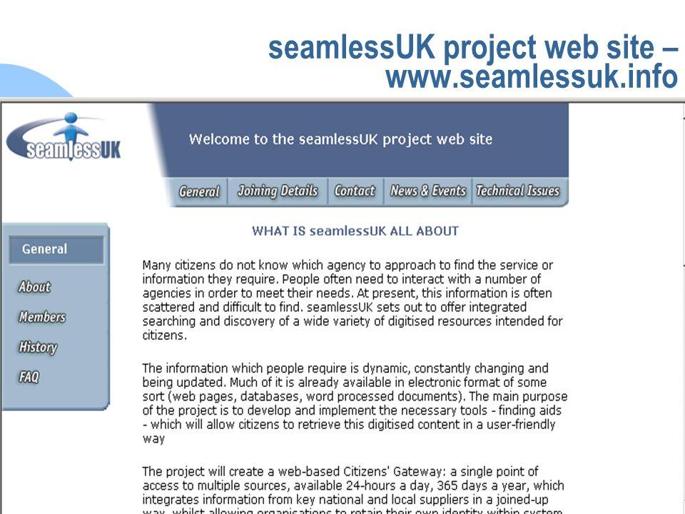seamlessUK seamlessUK project web site – www.seamlessuk.info