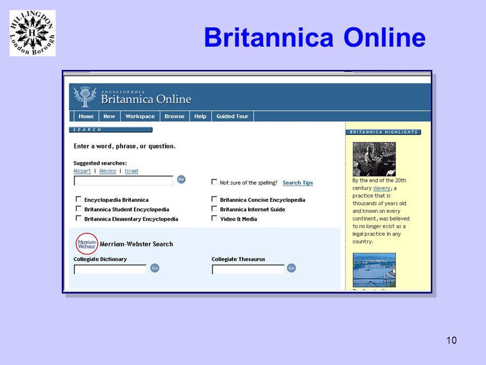 10 Britannica Online