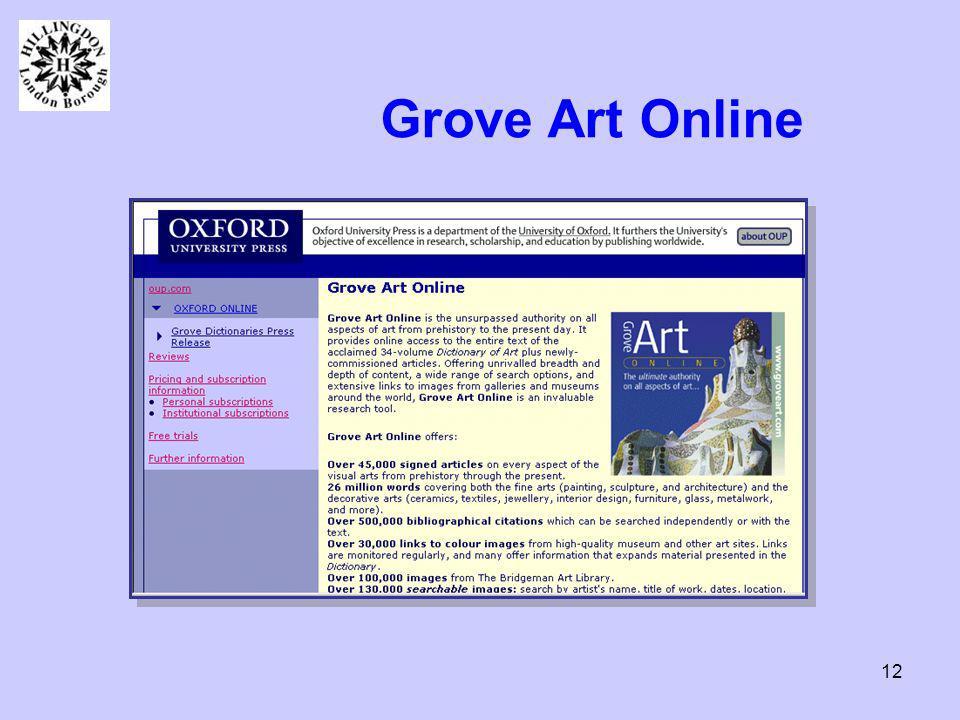 12 Grove Art Online