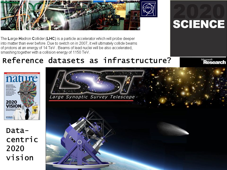 Data- centric 2020 vision Reference datasets as infrastructure