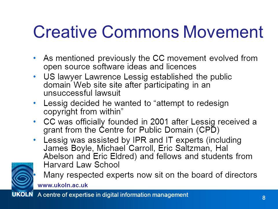 A centre of expertise in digital information management www.ukoln.ac.uk 19 Licence Distribution