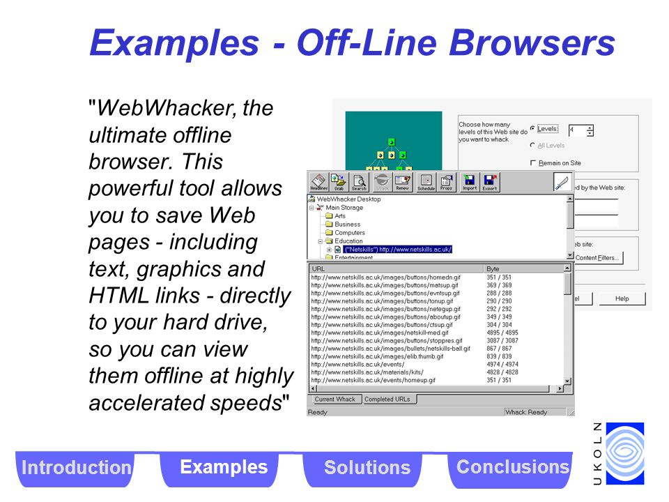 Examples - Off-Line Browsers