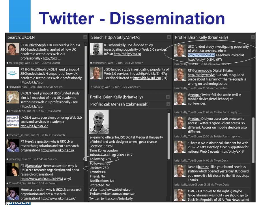 Twitter - Dissemination 10