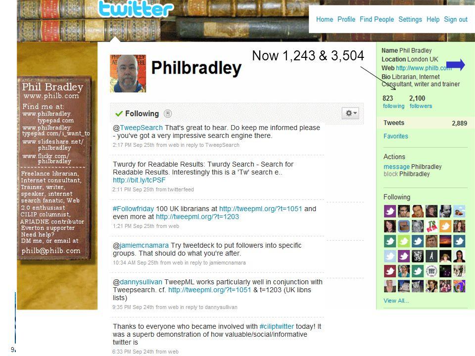 9 Now 1,243 & 3,504