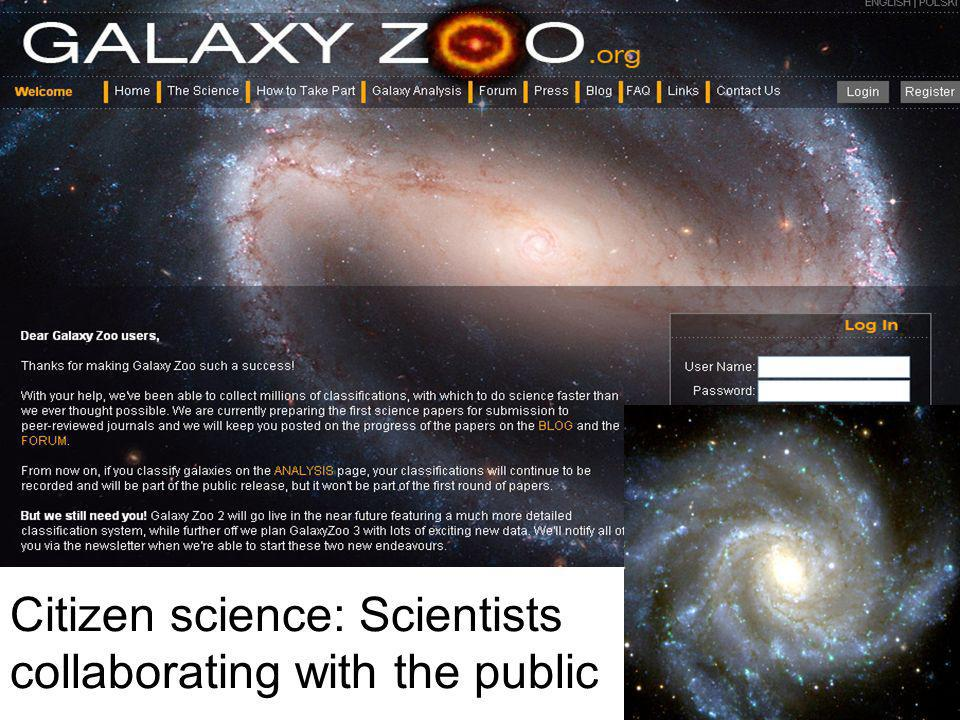 Citizen science: Scientists collaborating with the public